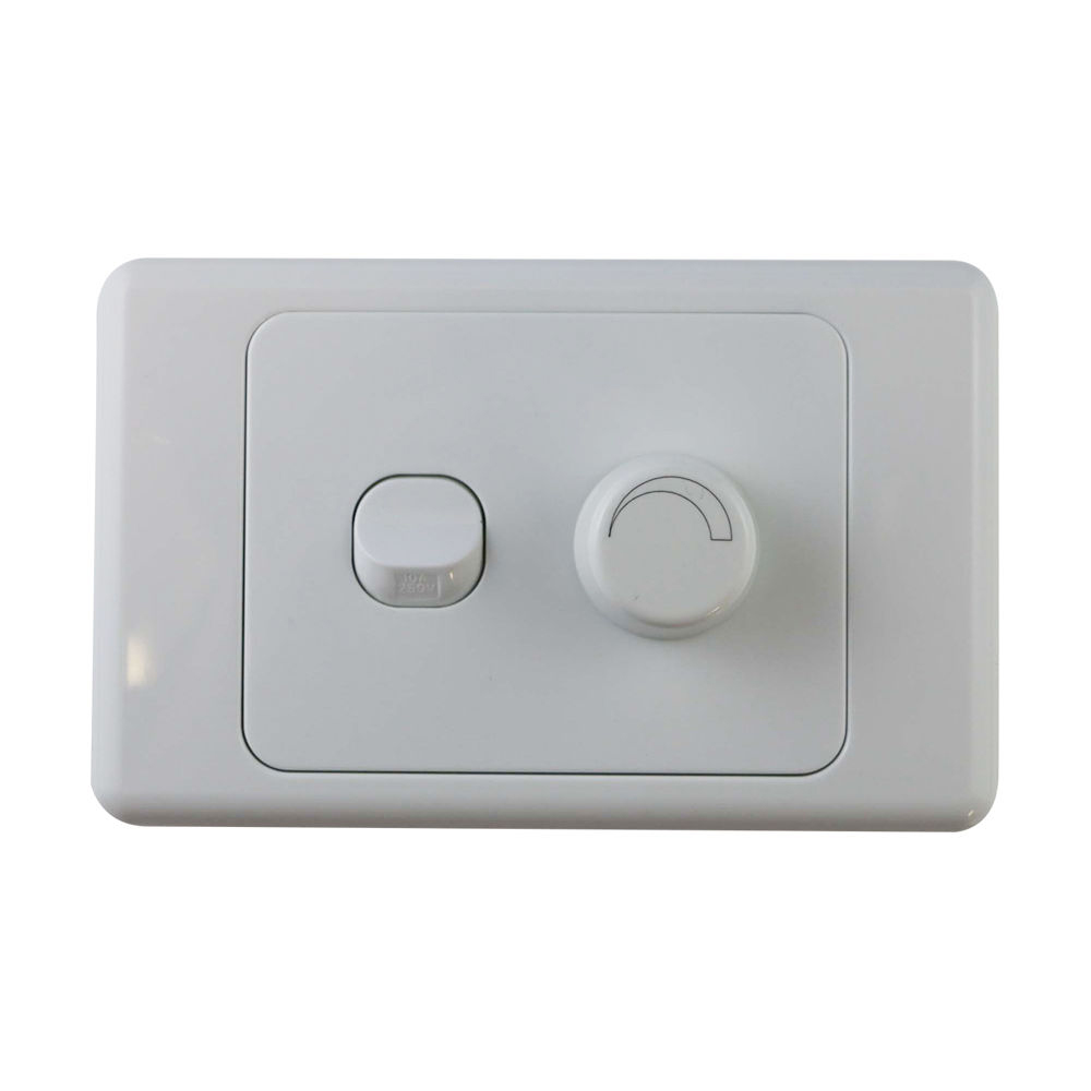 2 gang wall plate with switch led light dimmer universal saa approved ebay. Black Bedroom Furniture Sets. Home Design Ideas